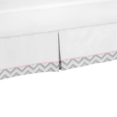 Bed Skirt Sweet JoJo Designs WHT PNK GRY