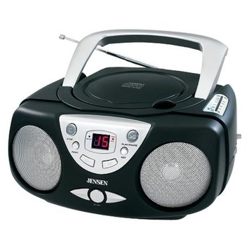 Jensen Portable Stereo Compact Disc Player with AM/FM Radio CD-472