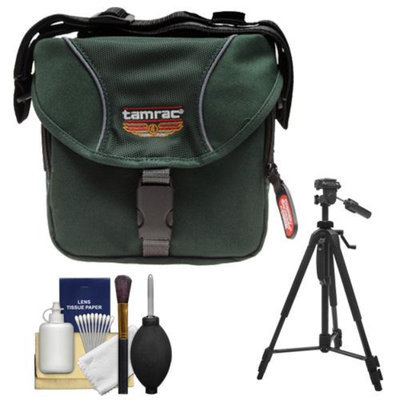 Tamrac 5210 Explorer 10 Digital SLR Camera Bag Case (Forest Green) with Tripod + Accessory Kit