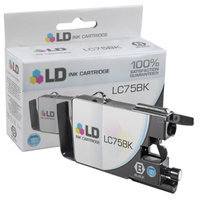 LD Brother Compatible LC75BK High Yield Black Ink Cartridge (LC75 Series) for use in the Brother MFC-J6510DW, MFC-J6710DW, MFC-J6910DW and MFC-J835DW Printers