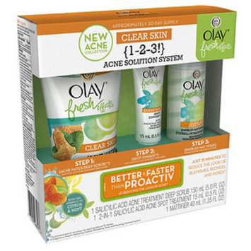 Olay Fresh Effects Clear Skin 1-2-3 Acne Solution System, 1 ea