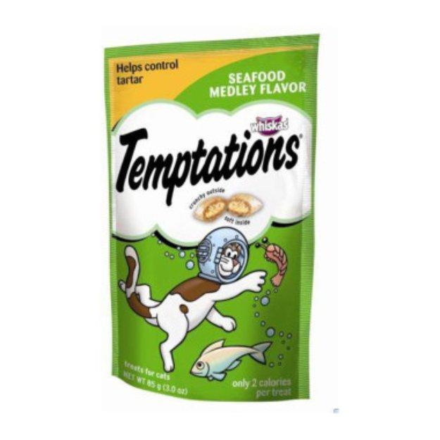 Whiskas Temptations - Seafood, 3 oz