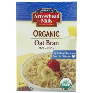 Arrowhead Mills Organic Oat Bran Hot Cereal, 16 Ounce (Pack of 12)