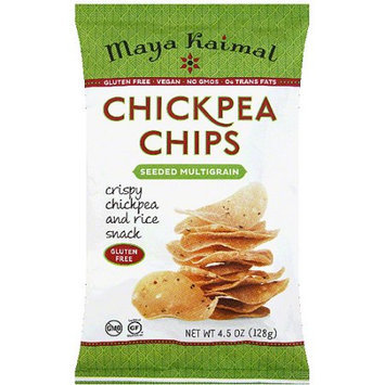 Maya Kaimal Seeded Multigrain Chickpea Chips, 4.5 oz, (Pack of 12)