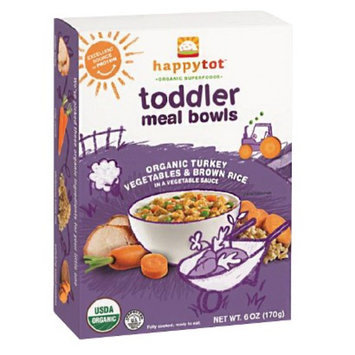 Happy Baby Happy Tot Organic Toddler Meal Bowls - Vegetables, Brown