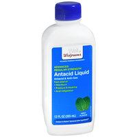 Walgreens Antacid Liquid Regular Strength, Mint, 12 fl oz