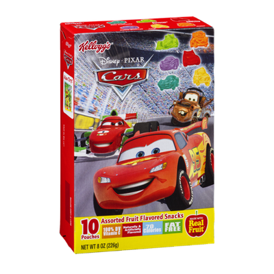 Kellogg's Disney Pixar Cars Assorted Fruit Flavored Snacks - 10 CT