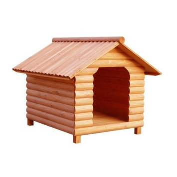 Merry Pet The Log Home Wood Pet House, Large