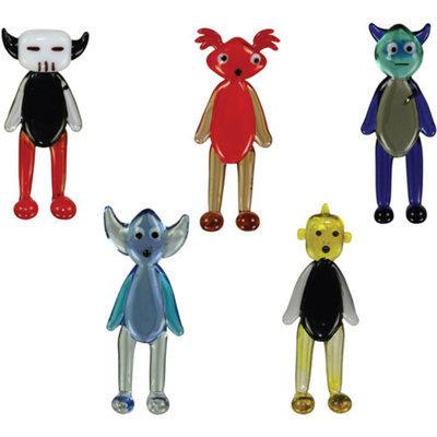 BrainStorm Wa2C Glass World Miniature Glass Figurines, 5-Pack, AkbaR/BasilliO/CaliB/DechA/EwaN