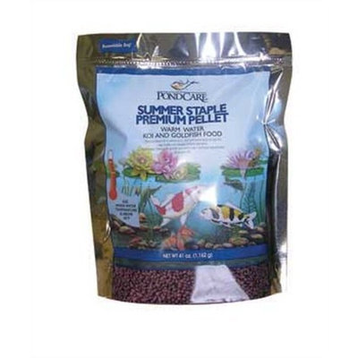 Pondcare Summer Staple Koi Fish Food Premium Pellet, 41-Ounce