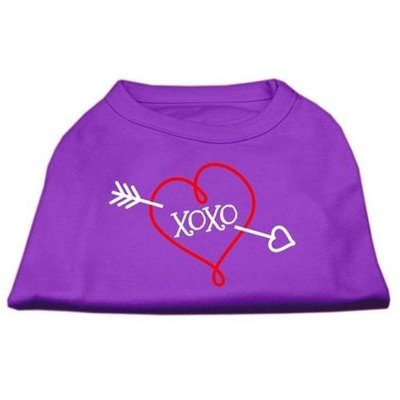 Ahi XOXO Screen Print Shirt Purple Lg (14)