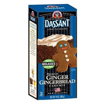 Dassant Ginger Gingerbread Mix, 14 Ounce Boxes (Pack of 6)