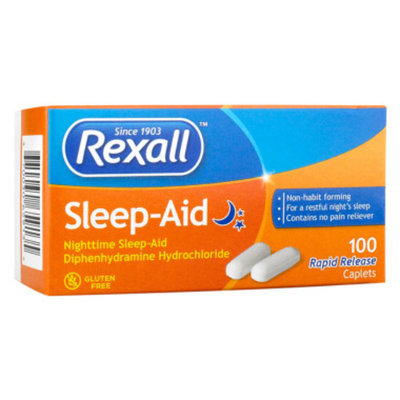 Rexall Sleep Aid Rapid Release Caplets, 100 ct