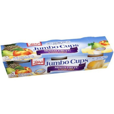 Libbys Libby's Jumbo Cups Mixed Fruit in Light Syrup, 18-Ounce Packages (Pack of 8)
