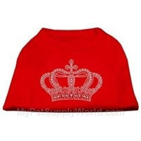 Mirage Pet Products 5223 XSRD Rhinestone Crown Shirts Red XS 8