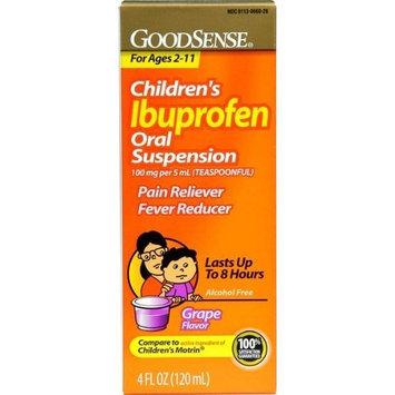 Ibuprofen Childrens Liquid Suspension, Grape Flavor - 4 Oz