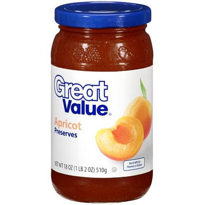 Great Value: Apricot Preserves, 18 oz