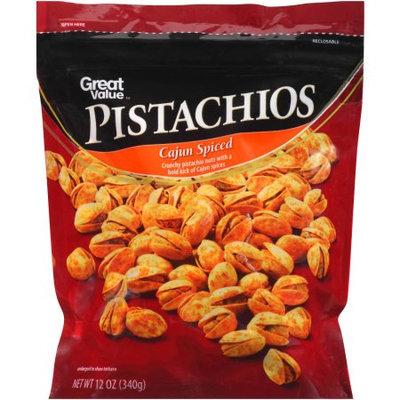 Generic Great Value Cajun Spiced Pistachios, 12 oz