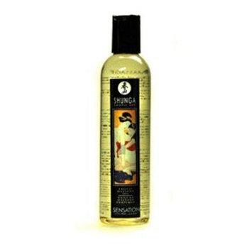 Shunga Massage Oil, Sensation Lavender, 8-Ounce Bottle