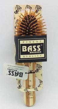 Brush - Small Oval Cushion Wood Bristles Wood Handle Bass Brushes 1 Brush