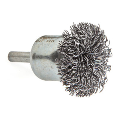 Forney 60003 End Brush Coarse Circular with 1/4 Inch Shank 1 1/2 Inch