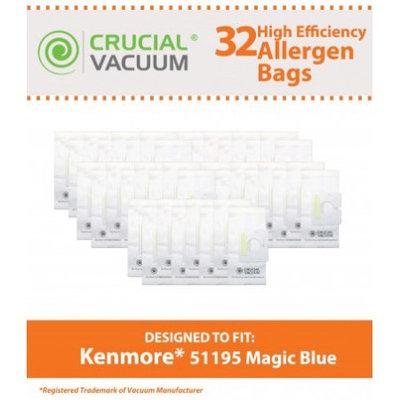 Crucial Vacuum 32 Kenmore 51195 Allergen Bags, Part # 20-51195 & 2051195