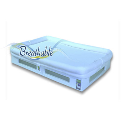Mini SafeSleep Breathable Crib Mattress, White