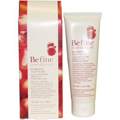 Befine Warming Clay Mask with Cardamom, Arnica And Pomegranate, 5 Ounce