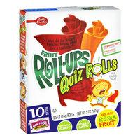 Betty Crocker® Fruit Roll-Ups® Quiz Rolls Strawberry Twist & Punch Berry Fruit Flavored Snacks