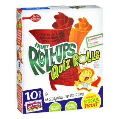 Fruit Roll-Ups™ Quiz Rolls Strawberry Twist & Punch Berry Fruit Flavored Snacks
