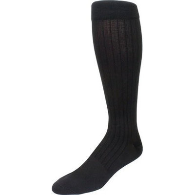 Sigvaris Mens Business Casual 15-20 mmHg Compression Socks: Size C - Navy
