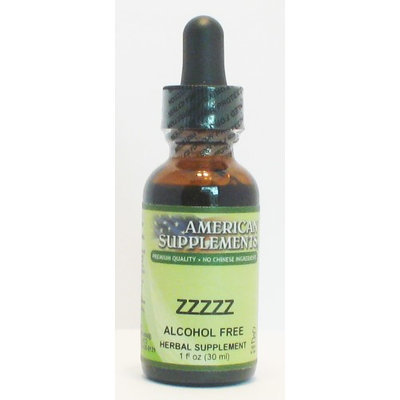 ZZZZZ Alcohol Free No Chinese Ingredients American Supplements 1 oz Liquid
