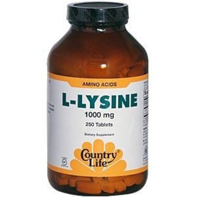 Country Life L-Lysine 1000 mg with B-6, 50-Count