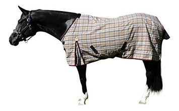 Kensington Stable Sheet 78In Blue Plaid