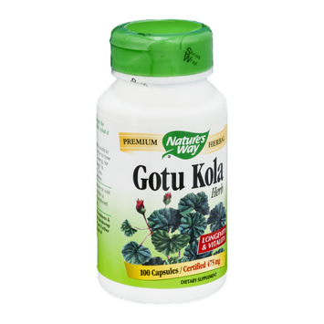 Nature's Way Gotu Kola Herb 475mg Capsules - 100 CT