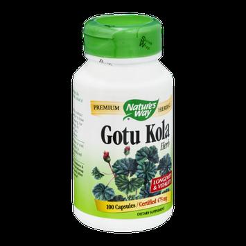 Nature's Way Gotu Kola Herb 475mg Capsules - 100 CT
