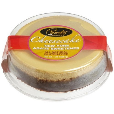 Pamela's Products Agave Sweetened New York Cheesecake (6-Inch Cake), 1.25-Pound Cheesecake