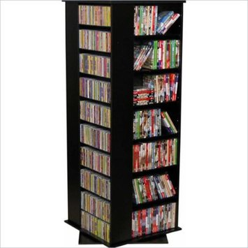 Venture Horizon Large CD/DVD Revolving Media Tower-Black
