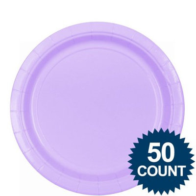 Amscan 203264 Lavender Big Party Pack Dinner Plates