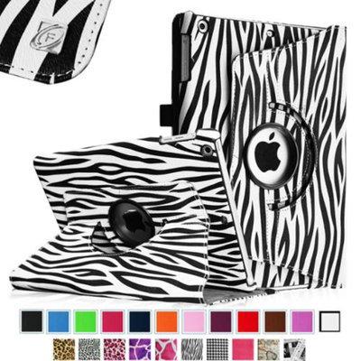 Fintie Rotating Leather Case Cover for Apple iPad Mini 2 (2013 Edition) & Mini (2012 Edition), Zebra Black