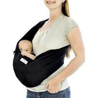Karma Baby Organic Cotton Twill Baby Sling - Black (Small)