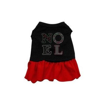 Mirage Pet Products Noel Rhinestone Dress Black with Red XXXL (20)