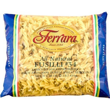 Ferara Pasta, Long Fusilli, 1-Pound (Pack of 12)