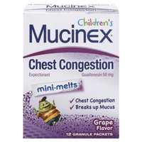 Mucinex Children's Mini-Melts, Grape, 12-Count