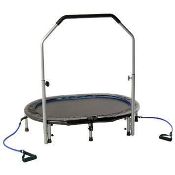 Avari Oval Trampoline w/handlebar