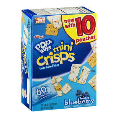 Kellogg's Pop-Tarts Mini Crisps Bites Frosted Blueberry Toaster Pastries