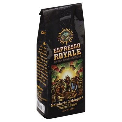 Espresso 12 oz. Solidario Ethiopian Medium Roast Coffee Beans - Case Of 6