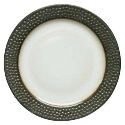 Kennex Thsld Stoneware Metallic Rim Round Dinner Plate (Dots)