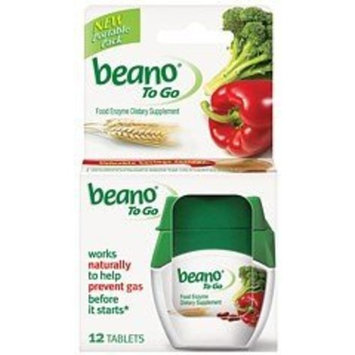 Beano Food Enzyme To Go Tabs, 12 ct