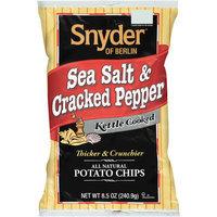 Snyder of Berlin Sea Salt & Cracked Pepper Kettle Cooked Potato Chips, 8.5 oz